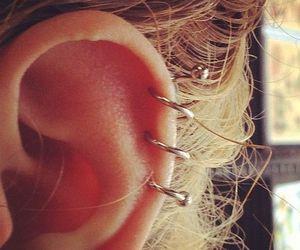 earrings, piercing, and girl image