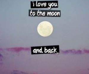 love and moon image