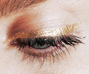 gold, makeup, and eye image