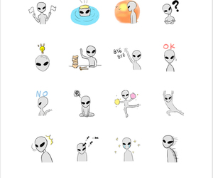 alien, line, and chat image