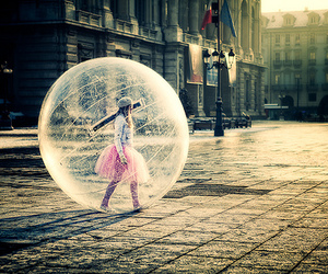 bubble and city image