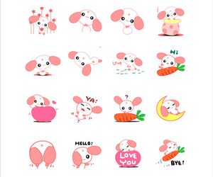 chat, sticker, and ear image