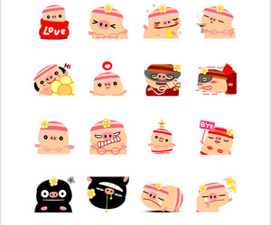 chat, line, and pig image