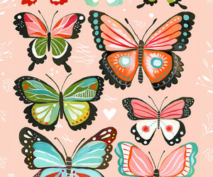 butterfly and art image