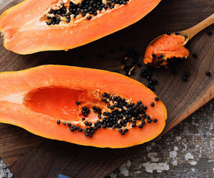 fruit, papaya, and food image