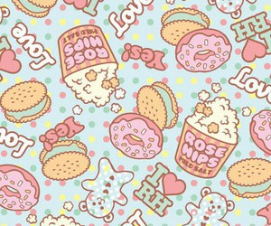 wallpaper, blue, and food image