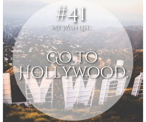 hollywood, travel, and bucket list image
