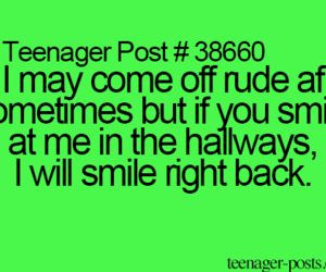 smile and teenagerpost image