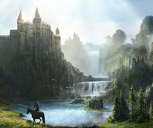 castle, fantasy, and art image