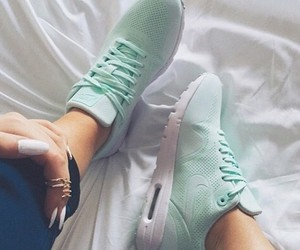 girl, legs, and mint image