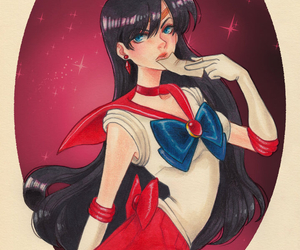 sailor mars and rei hino image