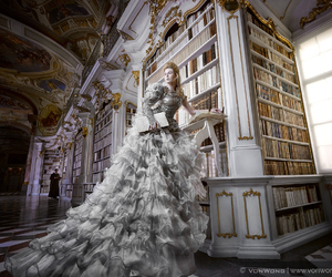 book, dress, and white image