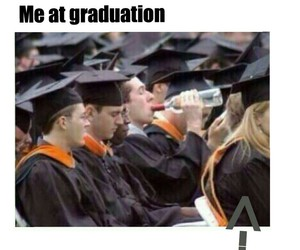 alcohol, funny, and graduation image
