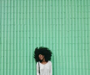green, hair, and pastel image