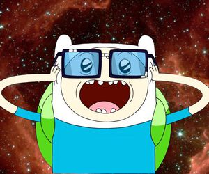 adventure time, finn, and galaxy image