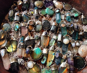 crystals and necklace image