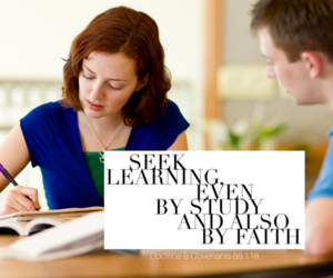 faith, learning, and lds image