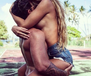 couple, long hair, and love image
