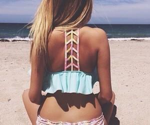 bathing suit, bikini, and bikini top image
