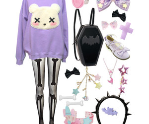 outfit, pastel goth, and kawaii image