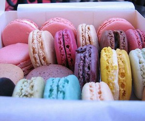 colors, macarons, and dope image