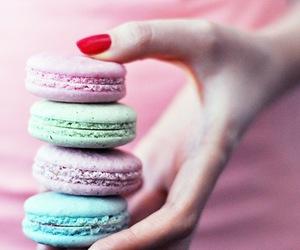 macaroons, pink, and sugar image