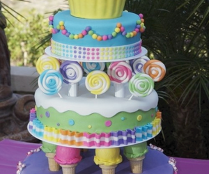 cake, sweet, and cupcake image