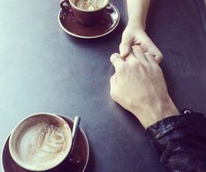 coffe, love, and hands image