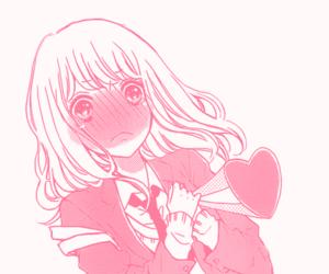 cute, pink, and manga image