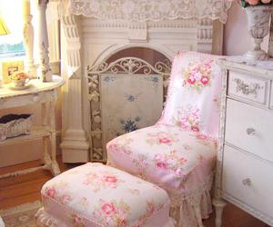 pink, floral, and shabby chic image