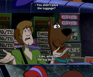 funny, scooby doo, and cartoon image