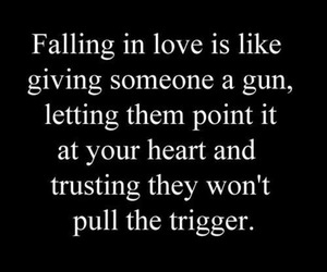 love, gun, and heart image