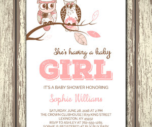 baby, celebration, and owls image