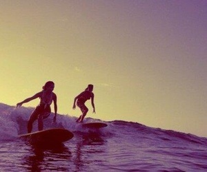 summer, girl, and surf image