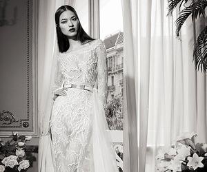 wedding dress, fashion, and wedding image