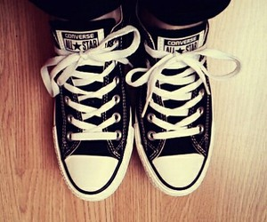 all star, black, and converse image