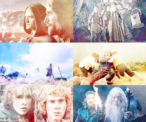 aragorn, gandalf, and lord of the rings image