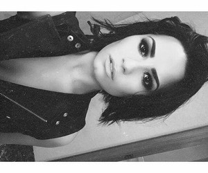 black&white, gorgeous, and eyebrows on point image