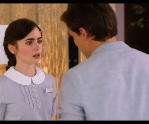lily collins, sam claflin, and love image