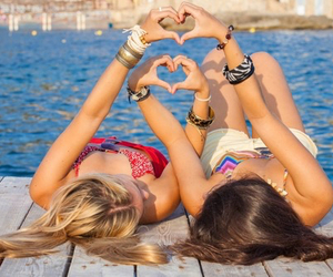 beach, beautiful, and bff image