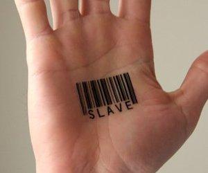 slave, tattoo, and hand image