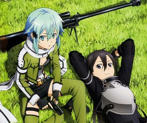 kirito, anime, and sword art online image