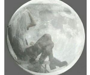 moon, girl, and moon girl image