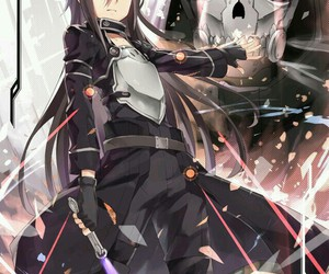 anime, sword art online, and kirito image