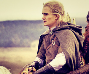 dwarf, elf, and Legolas image