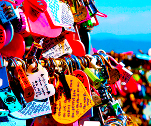 love, lock, and padlock image