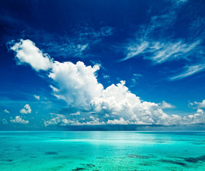 blue, sky, and ocean image