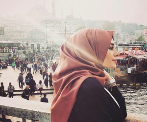 hijab, islam, and muslim image