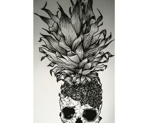 pineapple and skull image