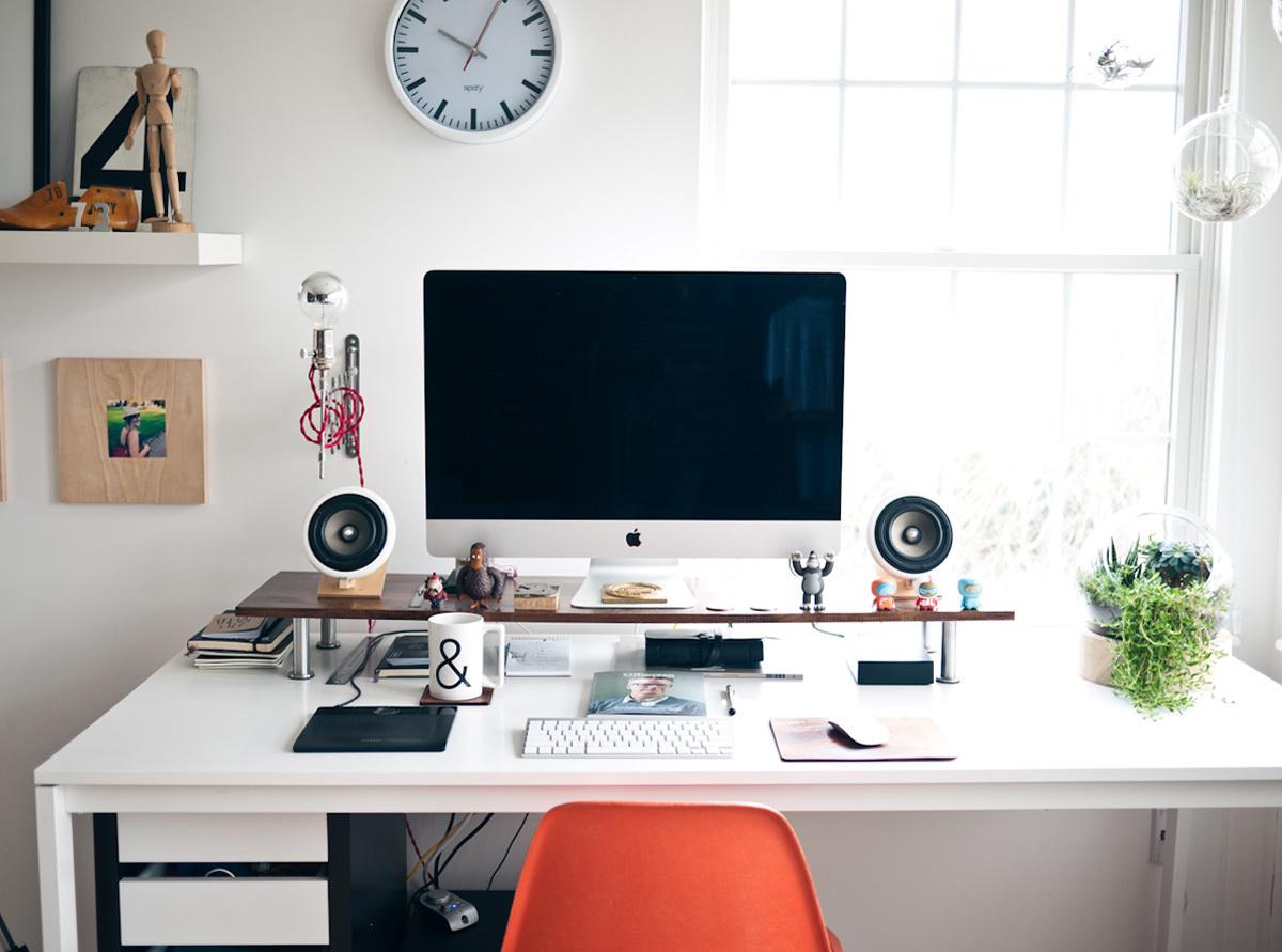 design, desk, and decor image